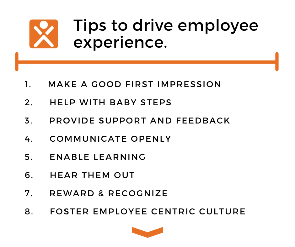 8 Tips to drive employee experience
