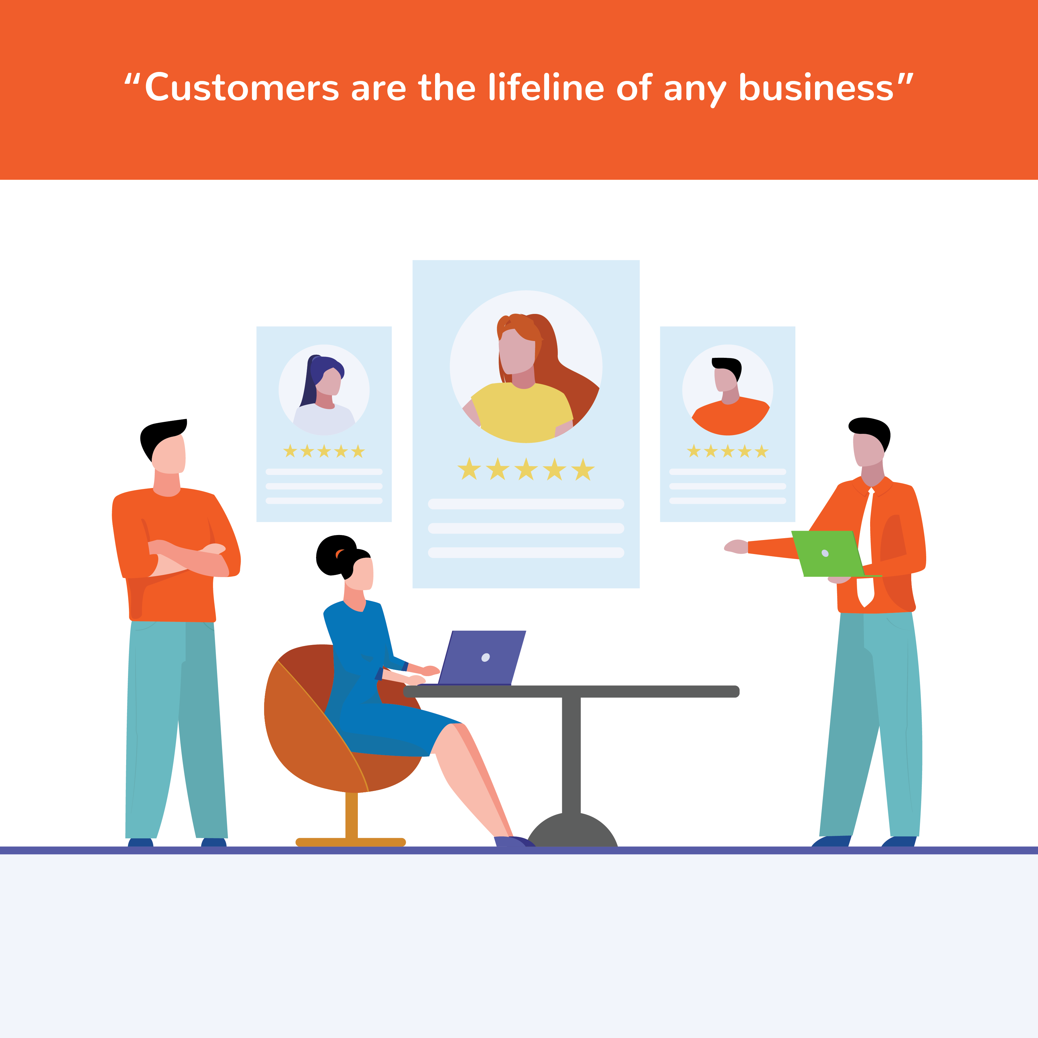 Customers are the lifeline of any business