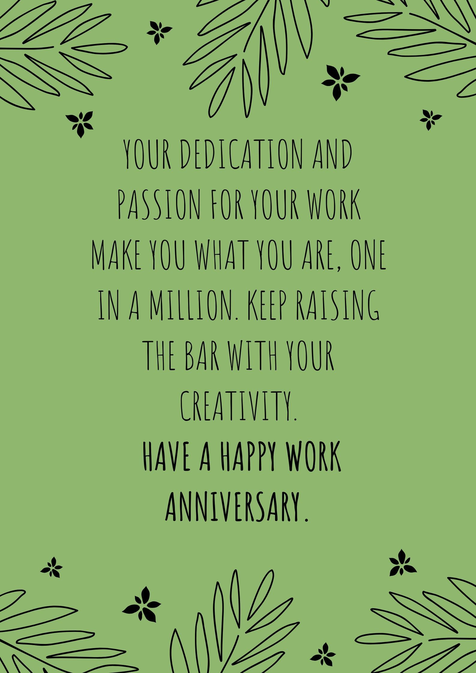 Anniversaries quotes work Best Work