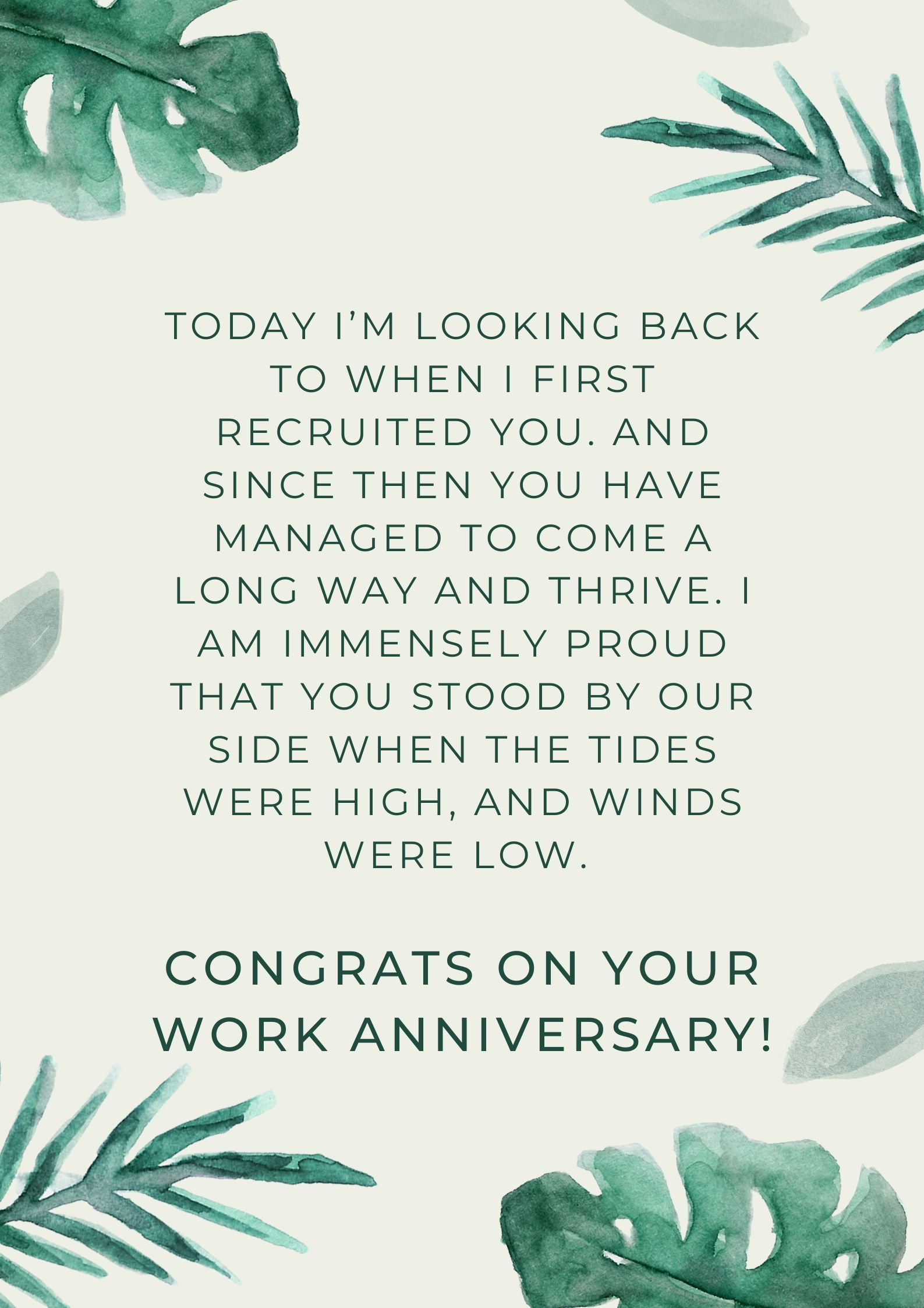 Anniversaries quotes work 24 Work
