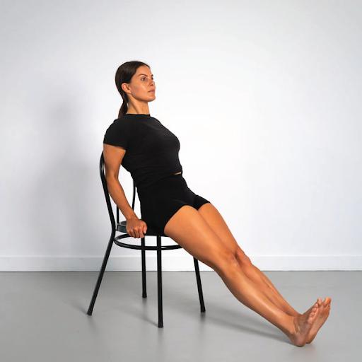 Seated leg raises